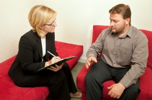 Man and psychiatrist